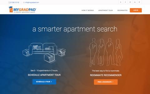 Screenshot of Home Page mygradpad.com - Home Page - MyGradPad - captured Sept. 30, 2014