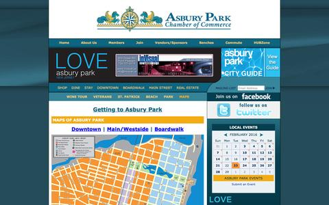 Screenshot of Maps & Directions Page asburyparkchamber.com - Asbury Park Chamber of Commerce, New Jersey 07712 - captured Feb. 23, 2016