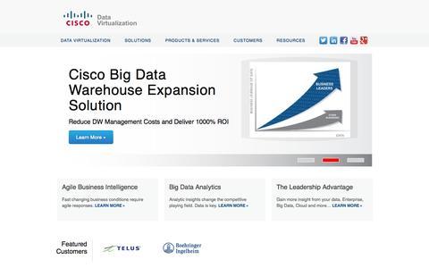 Screenshot of Home Page compositesw.com - Cisco | Data Virtualization and Data Federation - captured Jan. 15, 2015