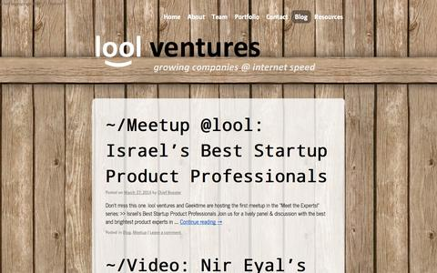 Screenshot of Blog lool.vc - Blog | lool ventures - captured Sept. 23, 2014