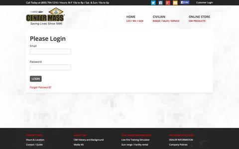 Screenshot of Login Page centermassinc.com - Please Login | Center Mass, Inc. - captured Dec. 7, 2015
