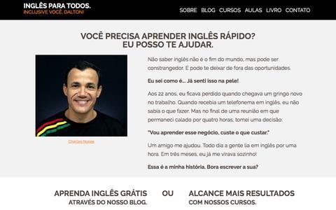 Screenshot of Home Page aprenda-ingles-agora.com - Você PRECISA Aprender Inglês Rápido? ENTÃO, Eu Posso Te Ajudar! - captured Jan. 31, 2018