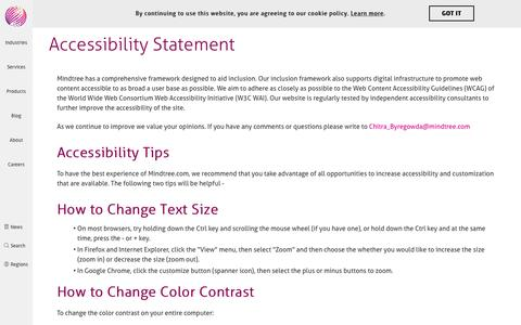 Accessibility Statement | Mindtree