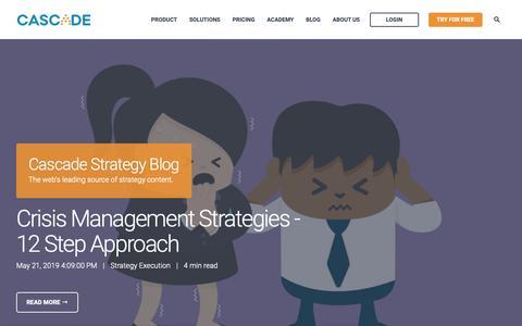 Screenshot of Blog executestrategy.net - Cascade Strategy Blog - captured June 3, 2019