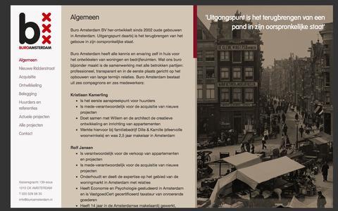 Screenshot of Home Page buroamsterdam.nl - Algemeen | Buro Amsterdam - captured Oct. 5, 2014
