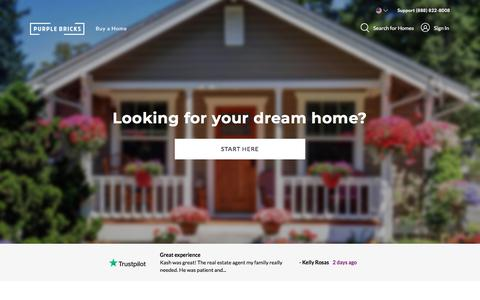 Screenshot of Home Page purplebricks.com - Purplebricks - Your Local Real Estate Agent - captured July 14, 2019
