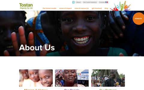 Screenshot of About Page tostan.org - About Us | Tostan - captured Oct. 7, 2014