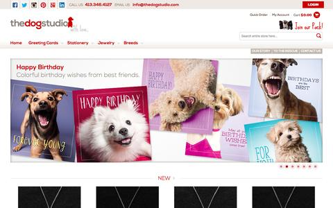 Screenshot of Home Page thedogstudio.com - The Dog Studio | Greeting Cards, Gifts, and Stationery for Dog Lovers - captured Oct. 7, 2014