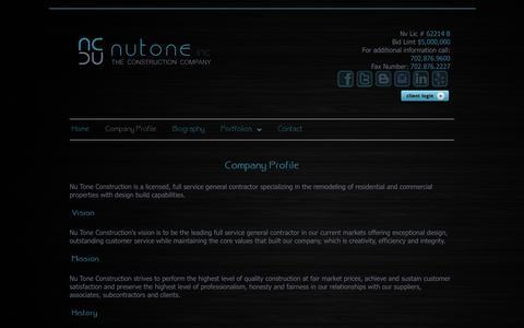 Screenshot of Press Page nutoneconstruction.com - Nutone Media Company Profile - captured Sept. 30, 2014