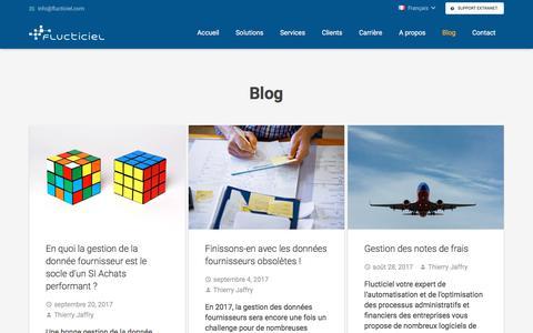 Screenshot of Blog flucticiel.com - Blog - captured Nov. 24, 2017