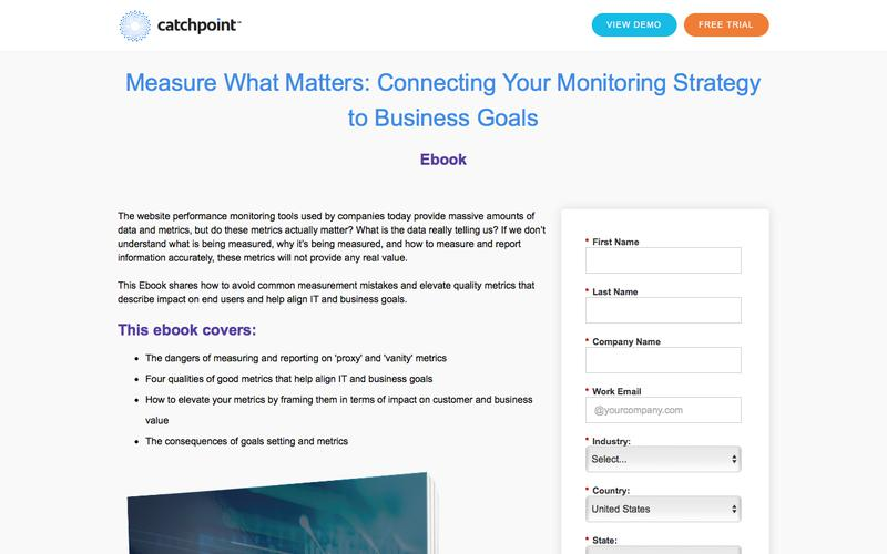 Measure What Matters - Ebook | Catchpoint