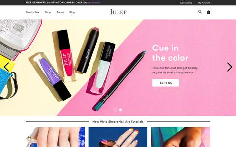 Screenshot of Home Page julep.com - Beauty Products & Nail Polish | Julep - captured May 20, 2016