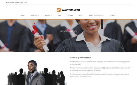 Screenshot of Jobs Page waltersmithng.com - Careers - Waltersmith - captured Oct. 19, 2017