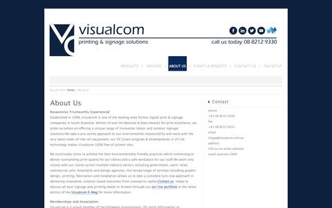 Screenshot of About Page visualcom.com.au - About Us - Visualcom - captured June 13, 2017