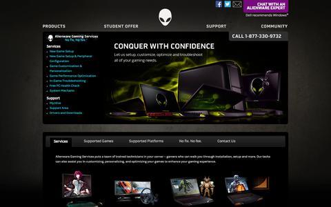 Screenshot of Support Page alienware.com - Alienware - captured Sept. 18, 2014