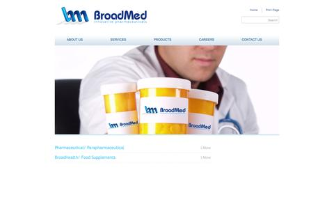 Screenshot of Products Page broad-med.com - Broadmed - captured Jan. 7, 2016
