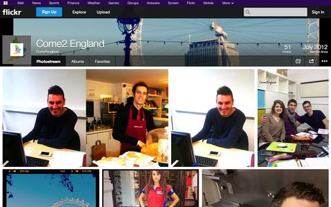 Screenshot of Flickr Page flickr.com - Flickr: Come2england's Photostream - captured Oct. 23, 2014