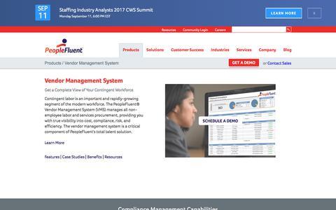 Vendor Management System | PeopleFluent
