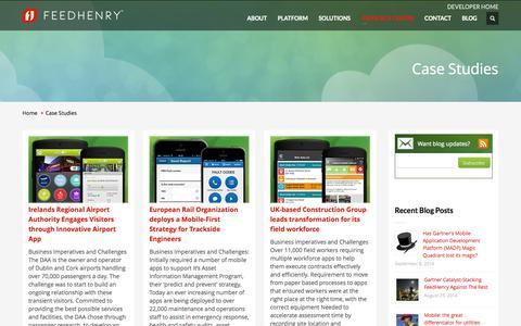 Screenshot of Case Studies Page feedhenry.com - Case Studies Archives - FeedHenry - captured Sept. 16, 2014
