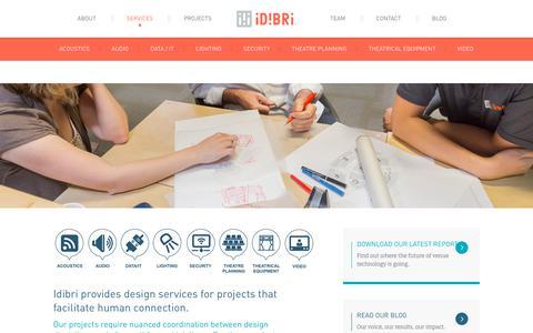 Screenshot of Services Page idibri.com - Design Services   Idibri - captured Dec. 10, 2018