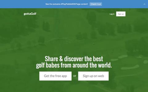 Screenshot of Home Page gottagolf.com - gottaGolf - the future of golf, today - captured Feb. 2, 2016