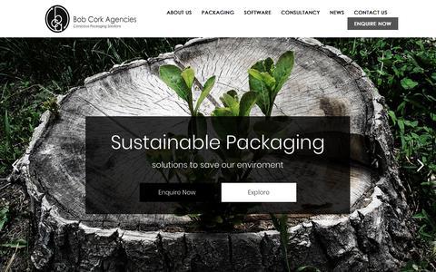 Screenshot of Home Page bobcorkagencies.co.za - Bob Cork Agencies – Packaging Solutions - captured Sept. 25, 2018