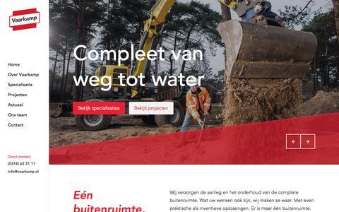 Screenshot of Home Page vaarkamp.nl - Home - Vaarkamp - captured Oct. 24, 2017