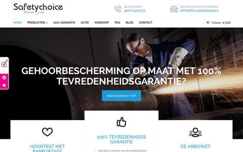 Screenshot of Home Page gehoorbeschermingopmaat.nl - Gehoorbescherming op maat van Safetychoice - captured May 26, 2017
