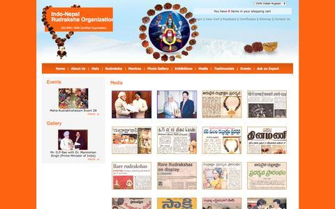 Screenshot of Press Page indonepalrudraksha.com - Welcome to Indo-Nepal Rudraksha Organization - Media - captured Nov. 26, 2016