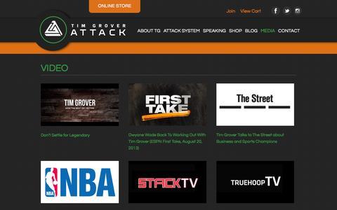 Screenshot of Press Page attackathletics.com - Attack Athletics  � News & Media - captured Dec. 23, 2015