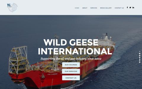 Screenshot of Home Page wildgeese.com.au - Wild Geese International | Supporting the oil & gas industry - captured Feb. 23, 2016