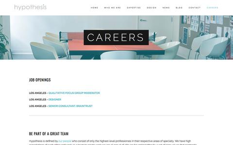 Careers — Hypothesis Group