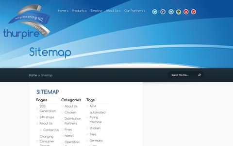 Screenshot of Site Map Page thurpire.ch - Sitemap - captured Oct. 9, 2014