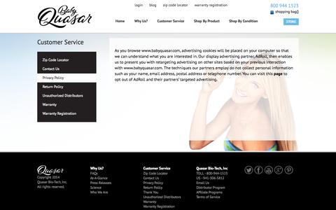 Screenshot of Privacy Page babyquasar.com - Privacy Policy| Baby Quasar - captured Oct. 3, 2014