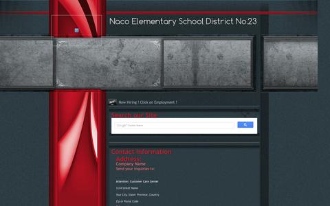 Screenshot of Contact Page Maps & Directions Page naco.k12.az.us - Contact Us - captured Oct. 9, 2014