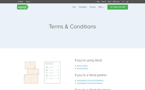 Screenshot of Terms Page vendhq.com - Online POS Software | Vend Web Based & iPad Point Of Sale - captured Dec. 17, 2016