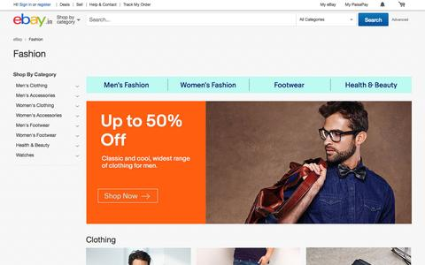 Screenshot of ebay.in - Shop with eBay India today for wide range of clothing, shoes, accessories, fragrance and personal care products at discounted prices.Find best deals on winter and wedding collection for men & women - captured Feb. 19, 2017