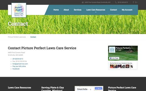 Screenshot of Contact Page pplcservice.com - Picture Perfect Lawn Care | Contact - captured Nov. 6, 2016