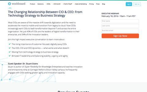 Screenshot of Trial Page workboard.com - Brilliant Leader Series - February Events - captured Jan. 15, 2020