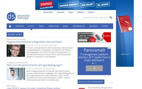 Screenshot of Team Page deutsche-startups.de - People � Nachrichten und Interviews zu Personen im Ressort People - captured Jan. 13, 2016