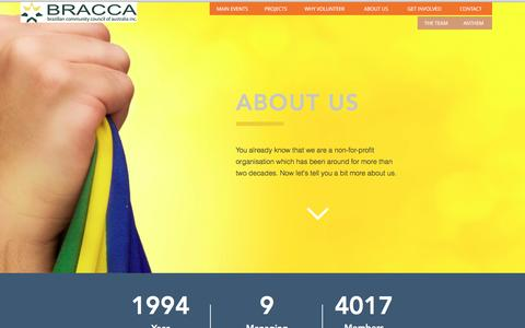 Screenshot of About Page bracca.org - BRACCA - captured Nov. 22, 2016