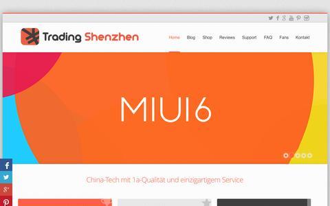Screenshot of Home Page tradingshenzhen.net - China-Tech mit erstklassiger Qualität und einzigartigem Service - captured Sept. 24, 2014