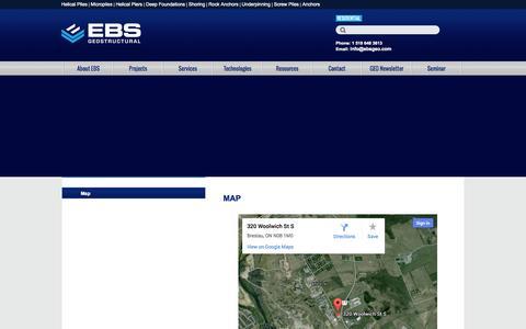 Screenshot of Maps & Directions Page ebsgeo.com - EBS - Map - captured Oct. 1, 2014