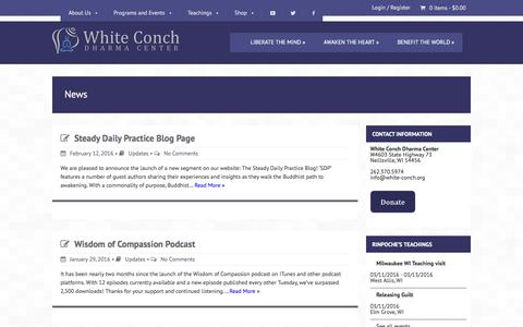 Screenshot of Press Page white-conch.org - News - White Conch - captured Feb. 27, 2016