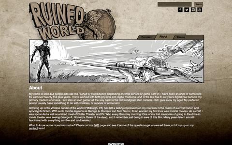 Screenshot of About Page ruinedworld.com - About - Ruinedworld - captured March 26, 2016