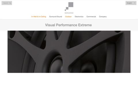 Screenshot of Products Page sonance.com - Visual Performance Extreme - captured Nov. 17, 2018