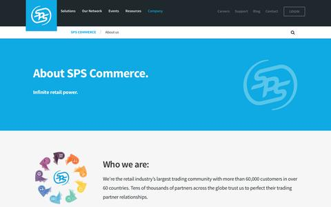 Screenshot of About Page spscommerce.com - About us | SPS Commerce - captured Aug. 2, 2016