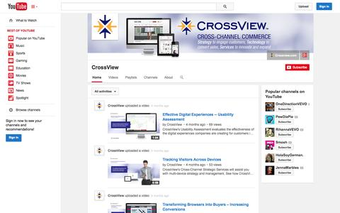 Screenshot of YouTube Page youtube.com - CrossView  - YouTube - captured Oct. 22, 2014