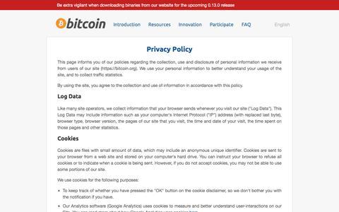Privacy Policy - Bitcoin