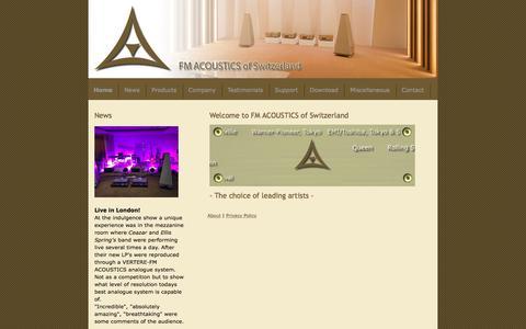 Screenshot of Home Page fmacoustics.com - FM Acoustics LTD Audiophile products - FM ACOUSTICS LTD. - captured Oct. 13, 2017